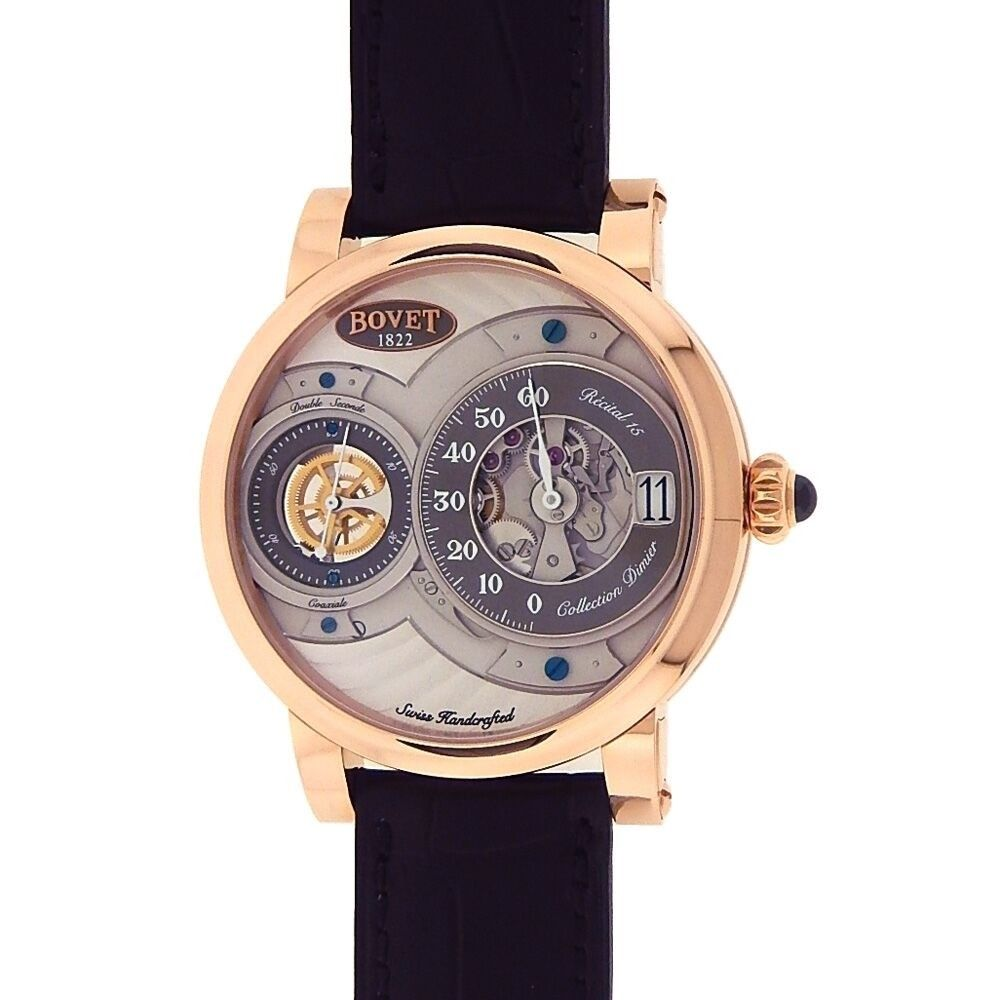 "Image of ""Bovet Dimier Recital 15 R150005 18K Rose Gold Grey Dial Mechanical"""