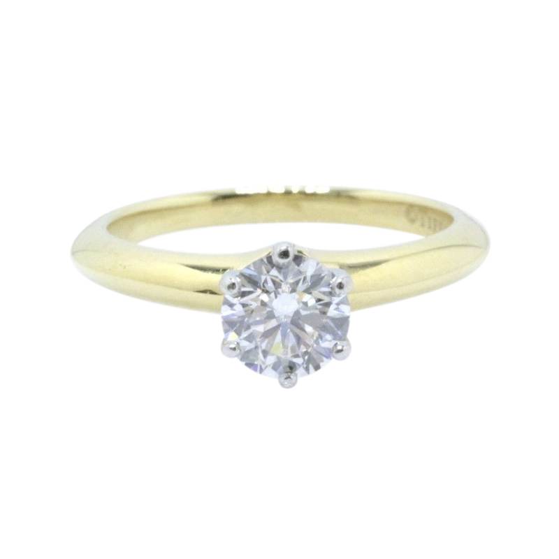 "Image of ""Tiffany & Co. 18K Yellow Gold with 0.80ct Round Brilliant Diamond"""