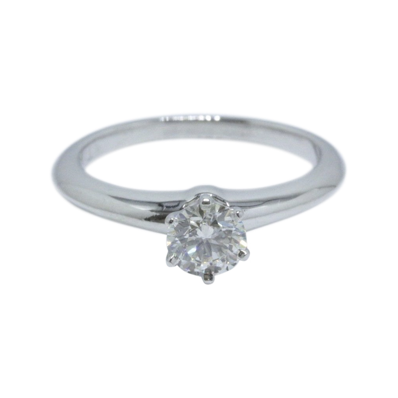 "Image of ""Tiffany & Co. Platinum with 0.58ct Round Brilliant Diamond Solitaire"""
