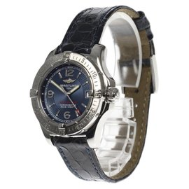 Breitling Colt Ocean A77380 Stainless Steel & Leather Quartz 33mm Womens Watch