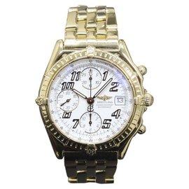 Breitling Chronomat K13050.1 18K Yellow Gold Automatic 40mm Mens Watch