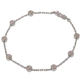 Cartier 18K White Gold Love Pastille Chain Bracelet
