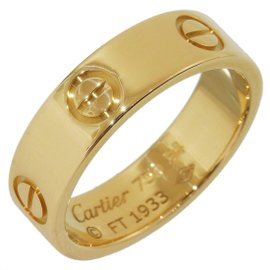 Cartier Love 18K Yellow Gold Ring Size 6.75