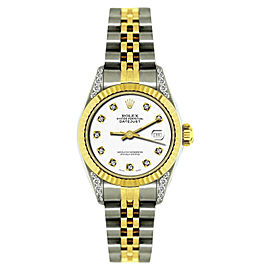 Rolex Datejust 18K Yellow Gold & Stainless Steel Diamond 26mm Watch