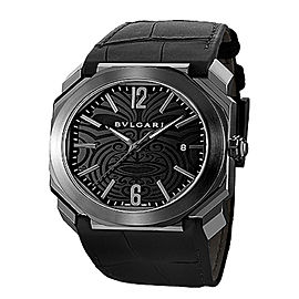Bulgari OCTO Steel Automatic Date All Blacks Mens Watch BGO41BSBLD/AB