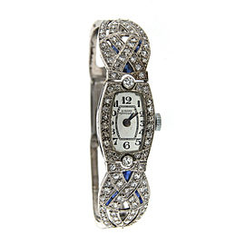 Girard Perregaux Platinum 14k White Gold & Diamond Watch Circa 1930!
