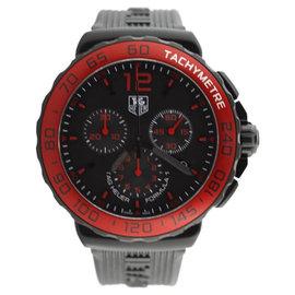 Tag Heuer GTS F1 Quartz Red Bezel 1/10th Second Chronograph Watch