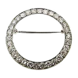 Tiffany & Co. Platinum & Diamond Eternity Pin Brooch