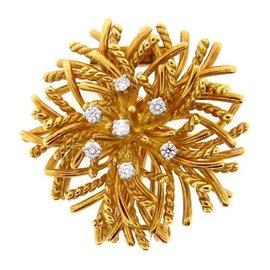 Tiffany & Co. 18K Yellow Gold & Diamond Pin
