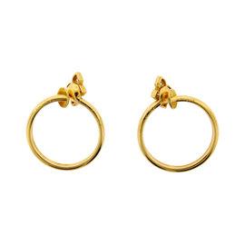 Cartier Paris 18K Yellow Gold & Diamond Earrings Circa 2000