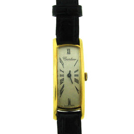 Vintage Cartier Curve 31mm x 11mm 18K Yellow Gold Watch