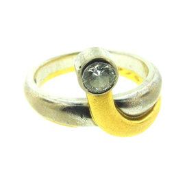 Georg Jensen 18K Yellow & White Gold & Diamond Ring