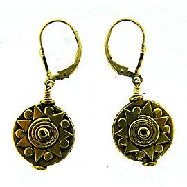 Tribal 14K Yellow Gold Earrings