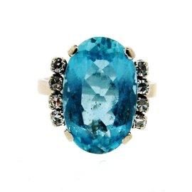 H. Stern 18k White Gold, Diamond & Topaz Ring
