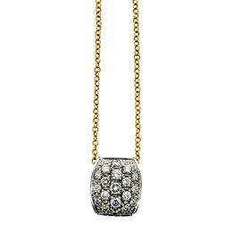 Pomellato 18K Yellow & White Gold & Diamond Necklace Circa 1990