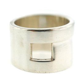 Gucci Sterling Silver Logo Ring