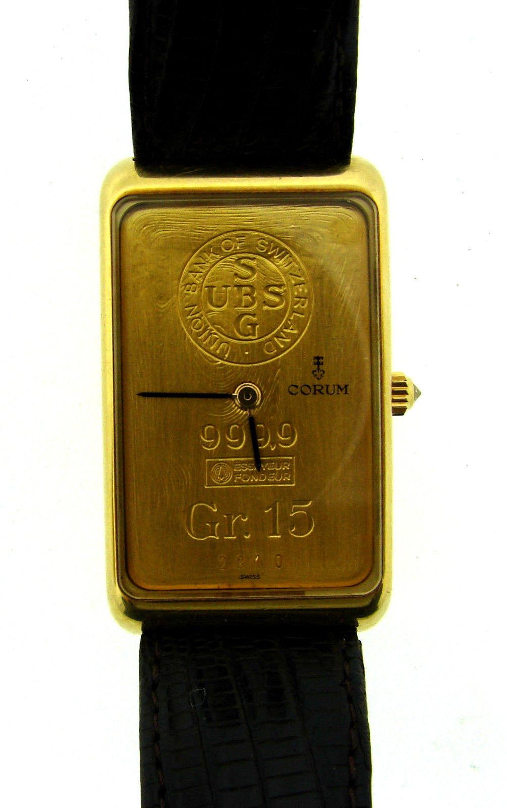 "Image of ""Corum 18K Yellow Swiss Gold Union Bank Of Switzerland Gr. 15 9999 Mens"""