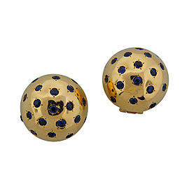 Van Cleef & Arpels Sapphire & Yellow Gold Ball Earrings