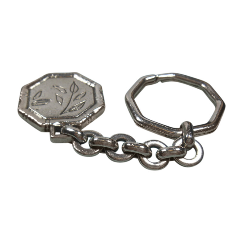 """Image of """"Tiffany & Co. Sterling Silver Lucky Bamboo Tag Charm Key Chain Ring"""""""