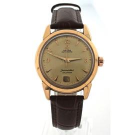 Omega Seamaster Bumper Calendar Automatic 18k Yellow Gold 38mm Watch