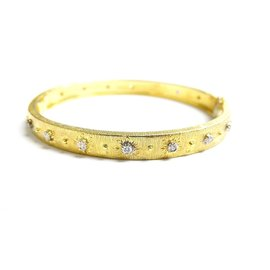 Buccellatti 18K Yellow Gold Buccellatti Mario Diamond Bangle Bracelet