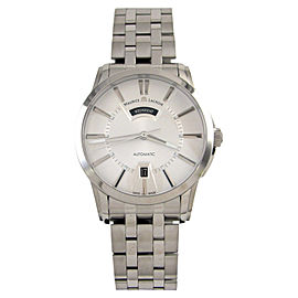 Maurice Lacroix Pontos PT6158-SS002-13E Day Date Stainless Steel Silver Dial 40mm Mens Watch