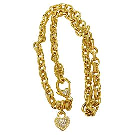 Judith Ripka 18K Yellow Gold Diamond Heart Couture Pendant Necklace