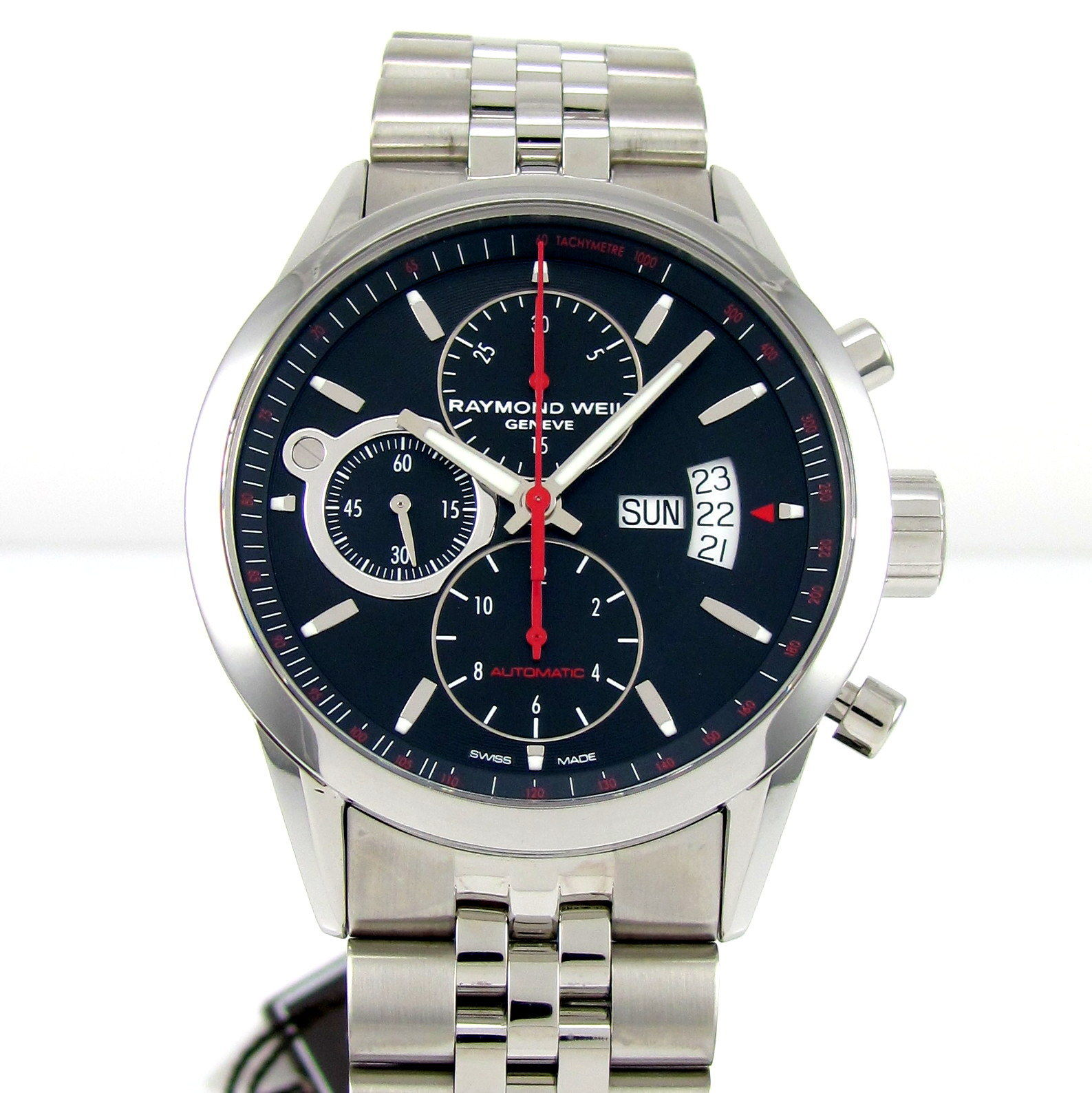 """Image of """"Raymond Weil Freelancer 7730-St-20041 Stainless Steel Chronograph 42mm"""""""