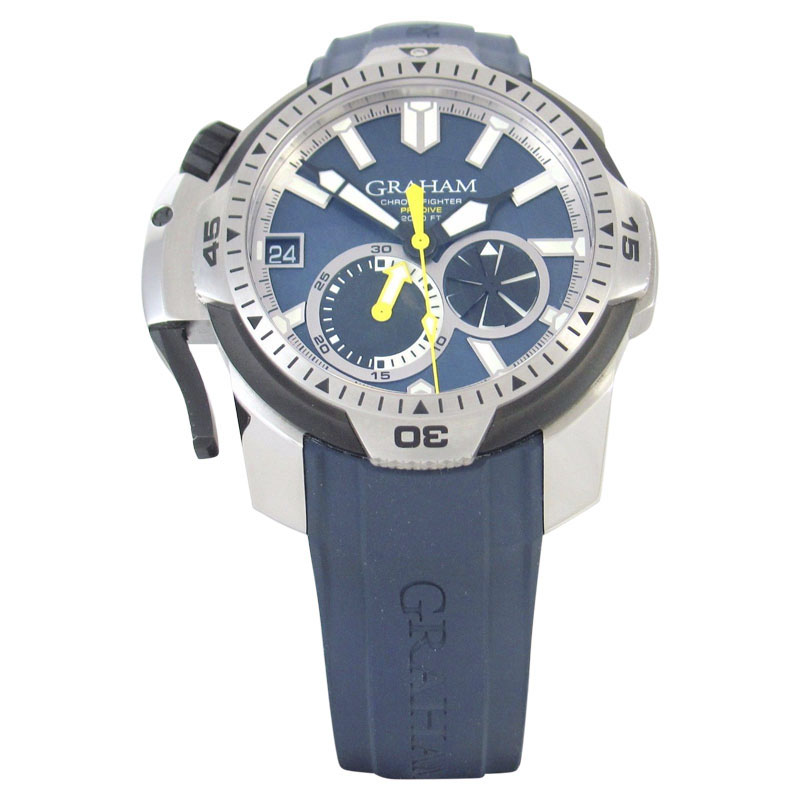 "Image of ""Graham Prodive 2Cdav.u01A Stainless Steel & Blue Dial 45mm Mens Watch"""