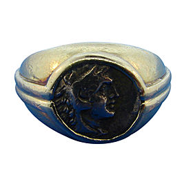 Bulgari 18K Yellow Gold & Roman Coin Ring