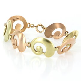 Tiffany & Co. Rose & Yellow Gold Swirl Bracelet