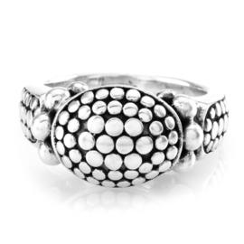John Hardy 925 Sterling Silver Dot Collection Ring Size 6.75