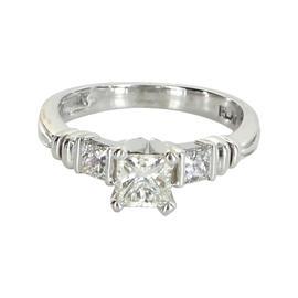 Scott Kay Platinum Three Stone Diamond Engagement Ring