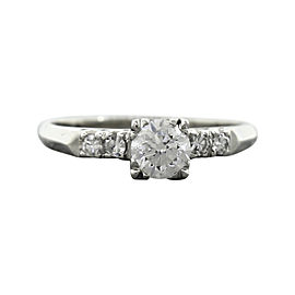 Platinum & 0.92ctw Diamond Engagement Ring