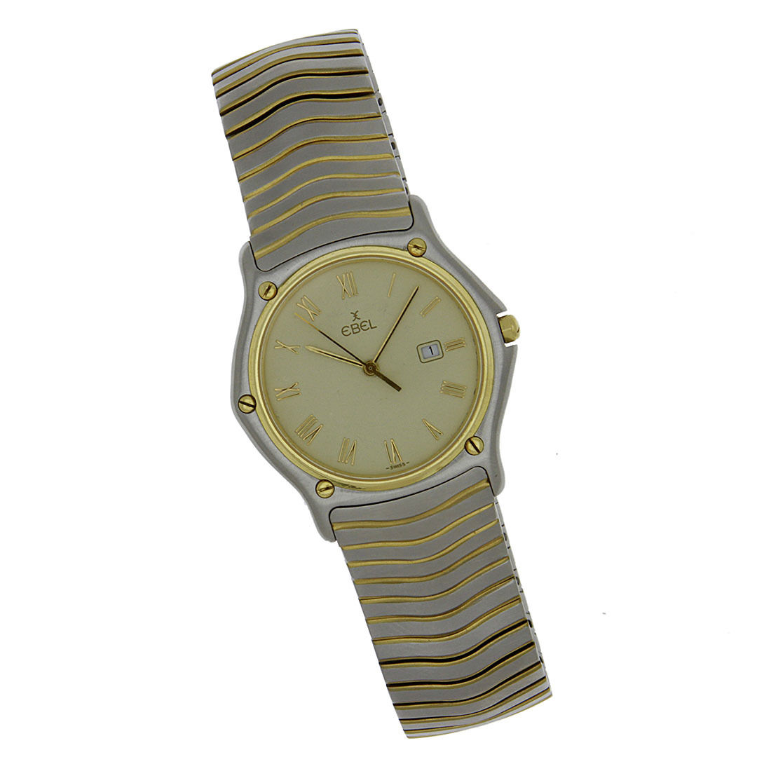 "Image of ""Ebel 183903 Stainless Steel/Gold Quartz 35mm Mens Watch"""