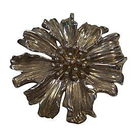 Tiffany & Co. 925 Sterling Silver Marigold Flower Brooch Lapel Vintage Pin