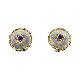 Buccellati 18K Yellow and White Gold 0.20 Ct Ruby Earrings