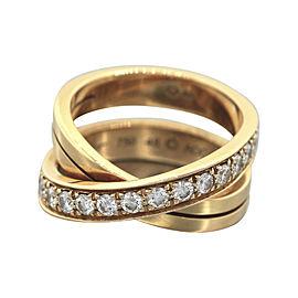 Cartier Paris Nouvelle Vague 18K Rose Gold 0.48 Ct Diamond Crossover Ring Size 4.5