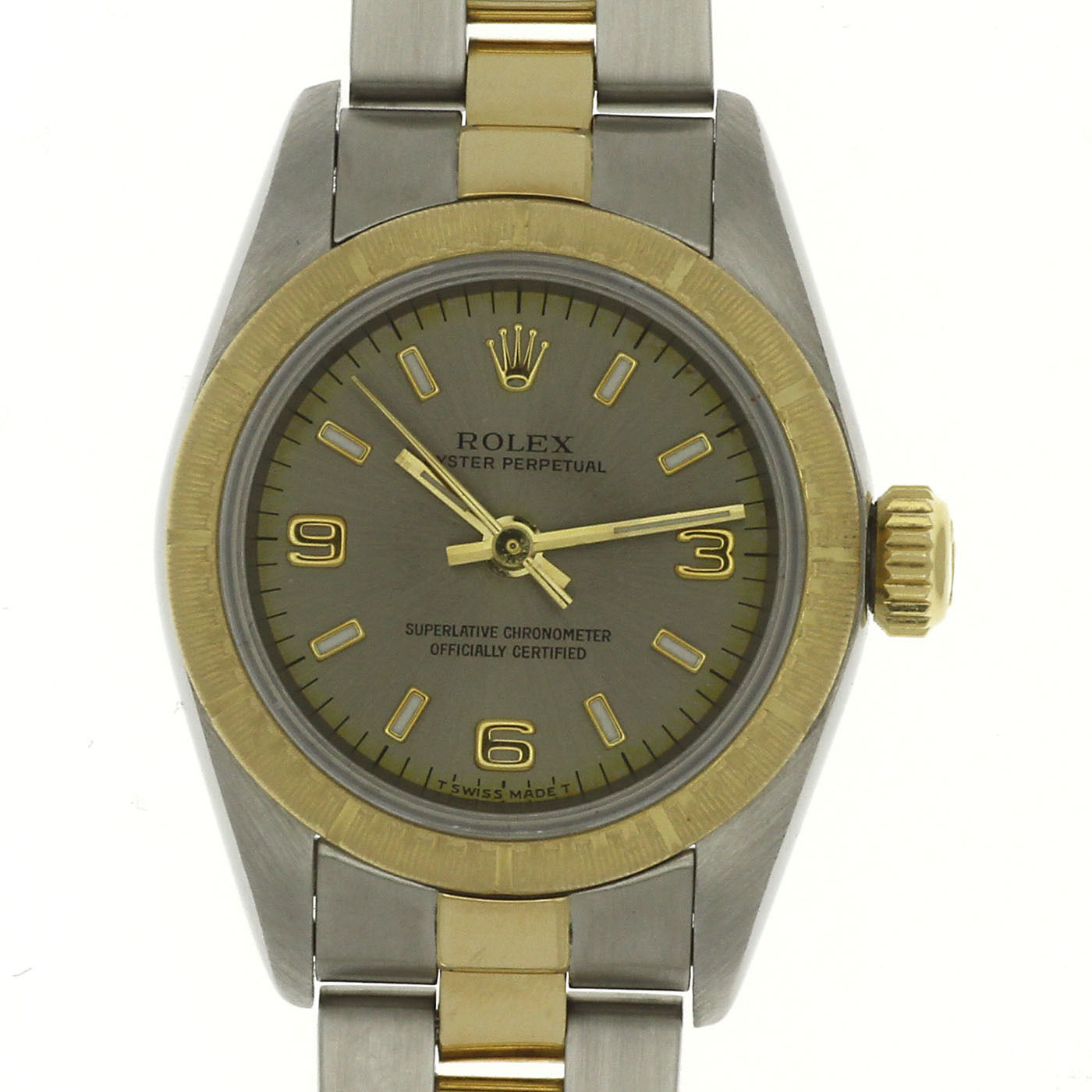 "Image of ""Rolex Oyster Perpetual 67243 Stainless Steel & Yellow Gold Gray Dial"""