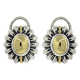 Lagos Caviar 18K Yellow Gold and Sterling Silver Earrings