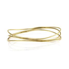 Tiffany & Co. Elsa Peretti 18K Yellow Gold 3-Row Bangle Bracelet