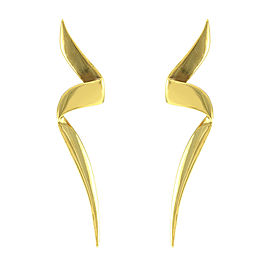 Tiffany & Co. 18K Yellow Gold Paloma Picasso Chrysalis Gold Earrings