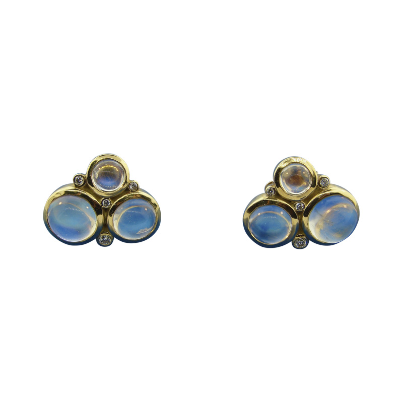 "Image of ""Temple St. Clair 18K Yellow Gold 0.53ct. Diamond and Moonstone"""