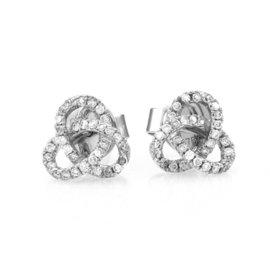 Hidalgo Micro-Pave 18K White Gold with 0.20ct Diamond Earrings
