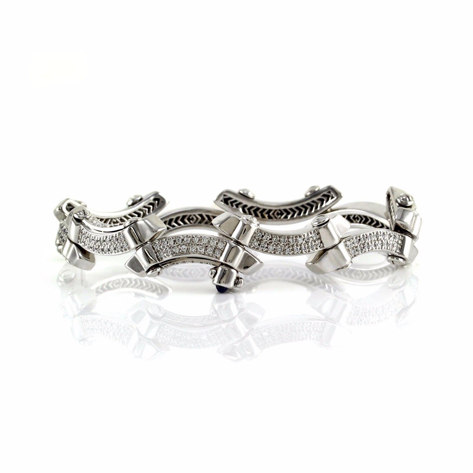 """Image of """"Philippe Charriol 18K White Gold & Diamond Bracelet"""""""