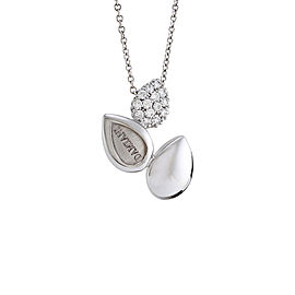 Damiani 18K White Gold 0.22ct. Pave Diamond Necklace