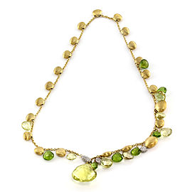 Marco Bicego 18K Yellow Gold Prasiolite, Peridot & Diamond Lariat Necklace
