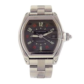 Cartier Roadster W62002V3 Stainless Steel Automatic Black 37mm Mens Watch