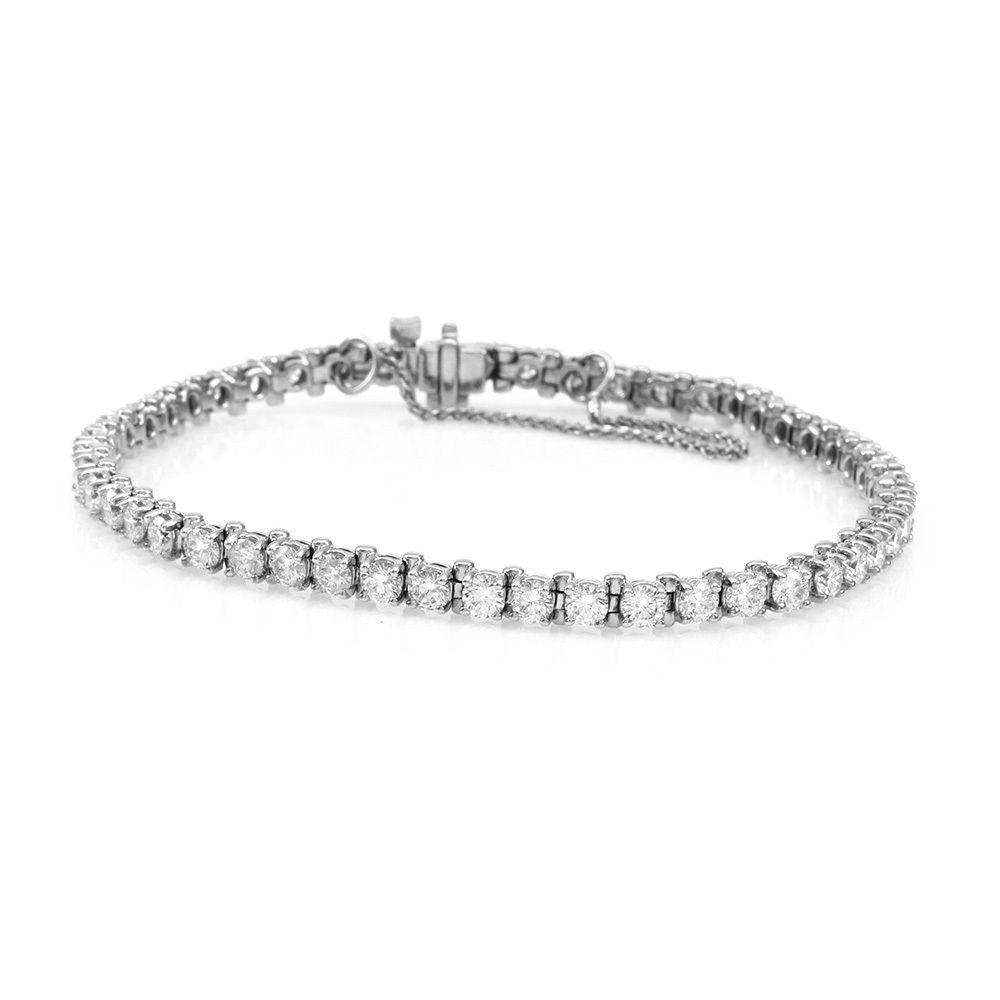 "Image of ""14K White Gold 5.50ctw. Round Brilliant Diamond Tennis Bracelet"""
