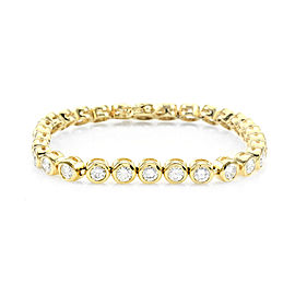 14K Yellow Gold Bezel Set 7.50ctw. Diamond Tennis Bracelet
